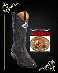 Exotic Python Western Cowboy Boots,J-Toe Color: Brown 995707 Los Altos