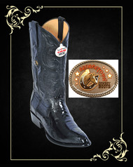 Ostrich Mens Cowboy Boots Medium R-Toe Los Altos Boots 600505