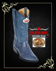 Blue Jean Ostrich Lleg Mens Cowboy Boots Medium R-Toe Los Altos Boots 600514
