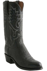 Lucchese Heritage Mens Black Goat Leather Cowboy Boots N9579