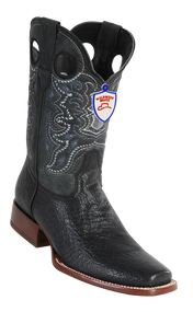 Wild West Mens Full Vamp Shark Square-Toe Boots 282C9305