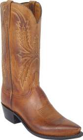 Lucchese Heritage Mens Tan Mad Dog Goat Cowboy Boots N1547