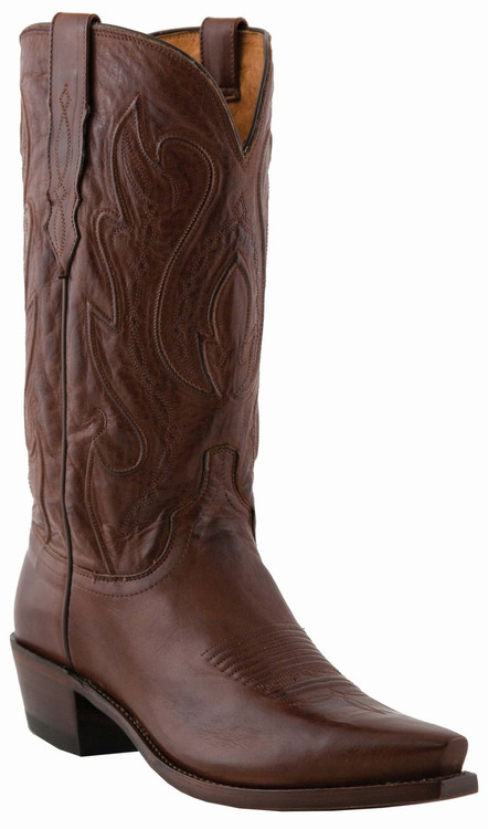 "Lucchese Since 1883 Mens Western Boots with ""Perez"" Cord Design Tan Ranch Hand M1004"
