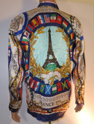 Eiffel Tower Silk Shirt