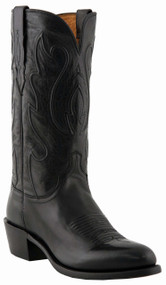 "Lucchese Since 1883 Mens Western with ""Perez"" Cord Design Black Ranch Hand M1006"