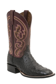 Lucchese Since 1883 Mens Western Josiah Black Full Quill Ostrich M2695