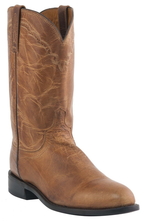 Mens Lucchese Since 1883 Roper Boots Tan Mad Dog Goat M1017