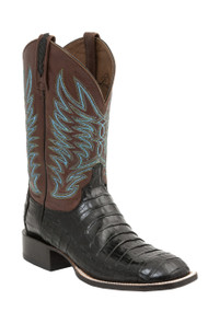 Lucchese Since 1883 Mens Western Boots Logan Black Caiman Belly Tail M2666