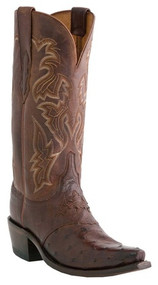Lucchese Since 1883 Womens Full Quill Ostrich Embroidered Leather Shaft Cowgirl Boots  Lucchese Style M5601