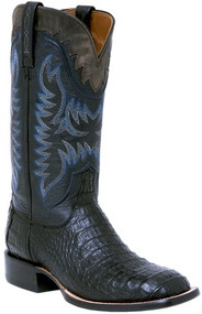 Lucchese Boots Since 1883 Mens Western Hornback Caiman Black / Gray M4547