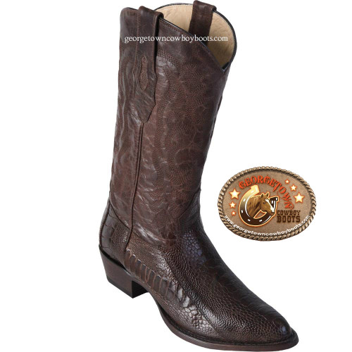Los Altos Brown Ostrich mens boots 650507