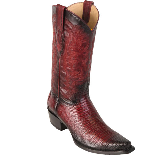 Snip Toe Teju Lizard Burgundy by Los Altos Boots 940743