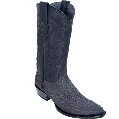 Snip Toe Sanded Teju Lizard Men's Boots 940774 by Los Altos