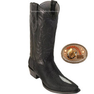 Los Altos Snip Toe Mens Stingray Single Stone Boots 941205