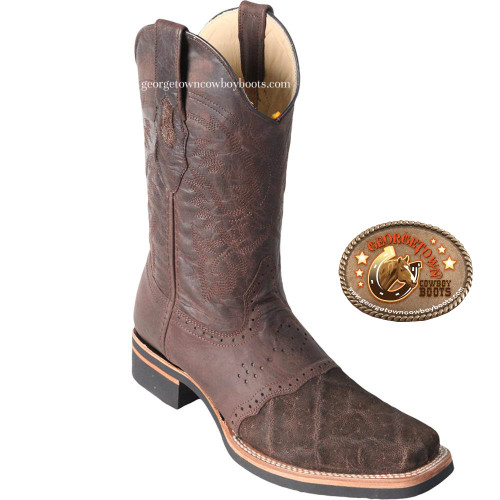 Square Toe Mens Elephant Skin Boots by Los Altos 8167007