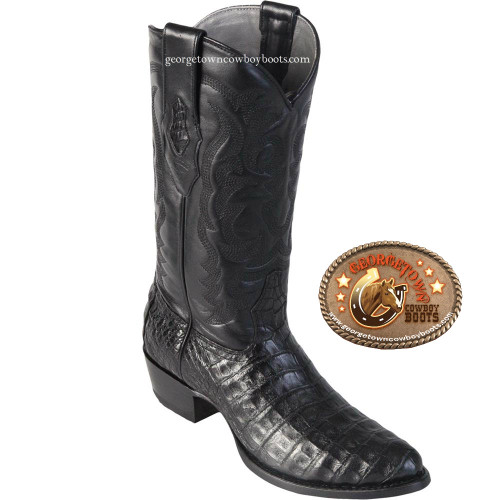 Los Altos Caiman Belly R Toe Mens Western Boots Handcrafted 658205