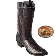 Los Altos Mens Round Toe Caiman Belly Cowboy Boots 658218