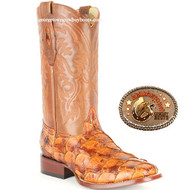 Pirarucu Fish Western Boots by Los Altos 8221003 Cognac Color