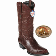 Wild West Lizard Mens Boots Burgundy 2990706