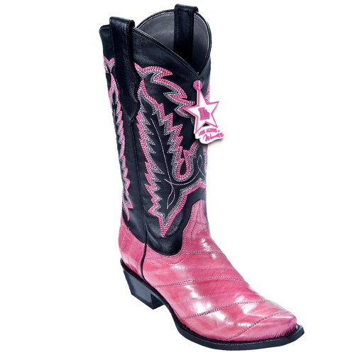 Los Altos Pink Womens Snip Toe Boots 340825