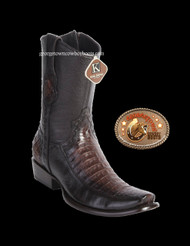 King Exotic Mens Genuine Caiman and Deer Leather Boots H79 Dubai Toe 479BF8216
