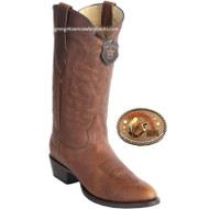 Men's Los Altos Boots Round Toe Leather 659940 Honey color