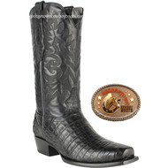 Mens 7 Toe Caiman Belly Boots