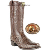 Mens Brown Caiman Belly Los Altos Boots 588207