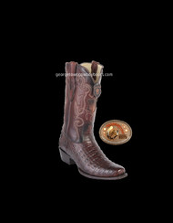 Mens Los Altos Caiman Belly 7 Toe Western Cowboy Boots 588266 Brown/Choco