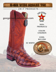 Pirarucu Fish Western Boots by Los Altos 8221050 Chedron Color