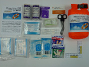 1st Response Kit with contents on display