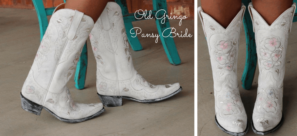 Old Gringo Pansy Bride Boots Bone