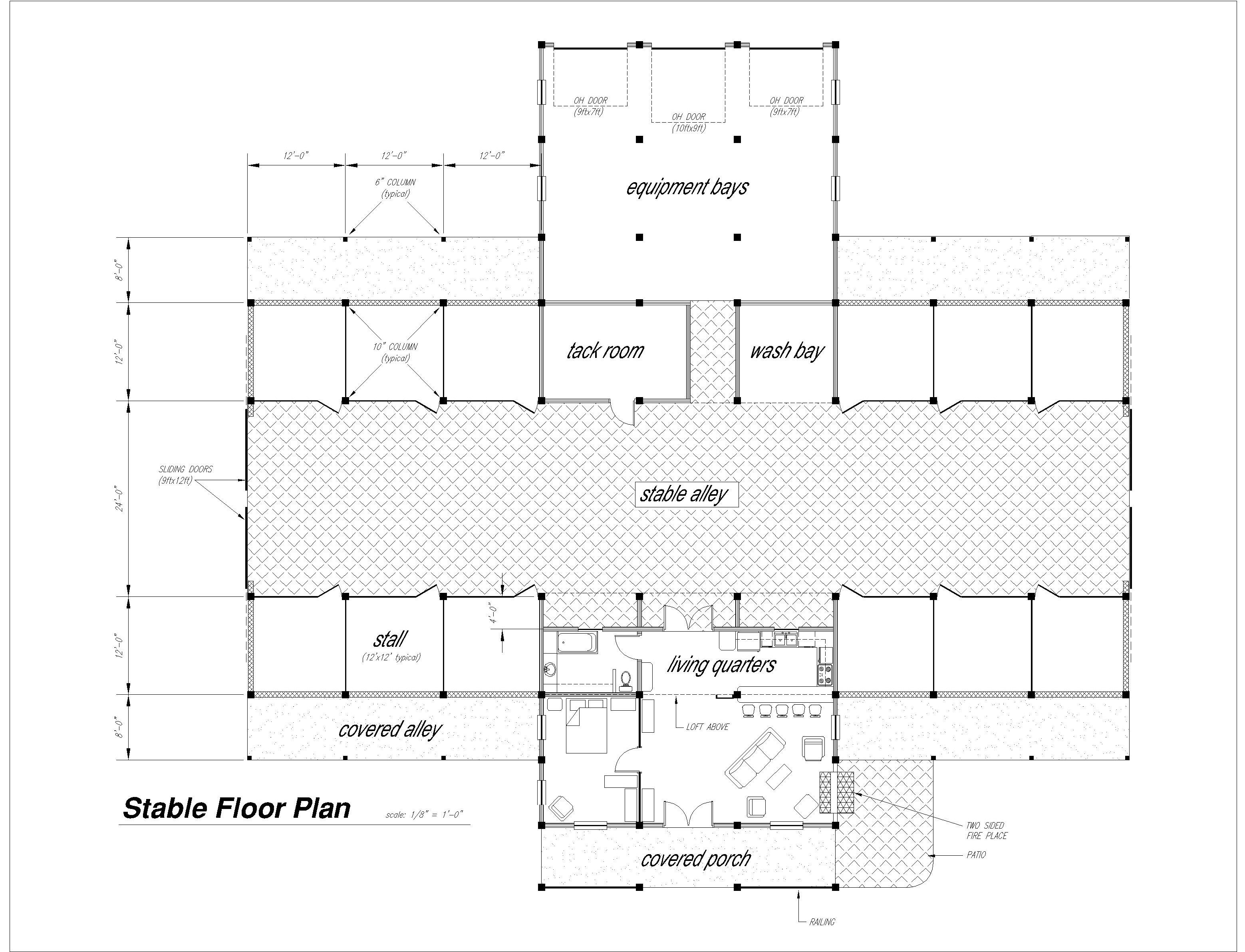Barn floor plan at riverview stables barn wedding layout for Stable floor plans