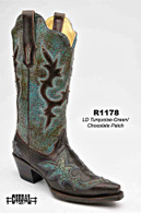 Corral Turquoise Green/Chocolate Patch R1178 Picture
