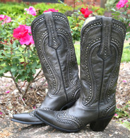 Corral Black Cord Stitch & Studs Boots G1131 Picture