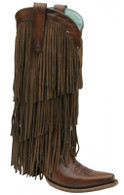 Corral Sierra Tan Fringe Tall Top C2700 Manufacturer Picture