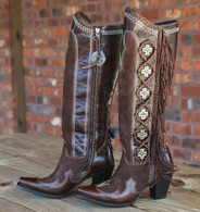 Lane for Double D Ranch Domingo Fringed Brown Boots DD9036A Picture