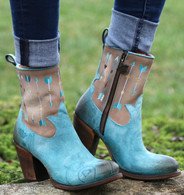 Junk Gypsy by Lane Wanderlust Turquoise Boots JG0011B Picture