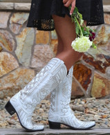 Kippys by Lane Boots Victoria Pearl White - KP0007A Picture