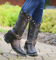 Old Gringo Tecolote Chocolate Boots L2377-1 Picture
