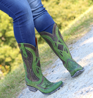 Old Gringo Urbi Green Chocolate Boots L2678-3 Picture