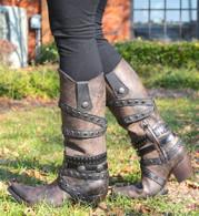 Corral Black Bone Crossed Straps Boots C2971 Picture