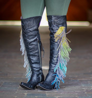 Junk Gypsy by Lane Spirit Animal Black Boots JG0022B Fringe
