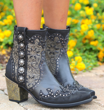 Double D by Old Gringo San Antonio Rose Boots DDBL010-1 Detail
