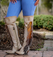 Junk Gypsy by Lane Spirit Animal Bone Boots JG0022C Picture