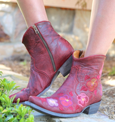 Old Gringo Pansy Short Red Boots BL2991-1 Photo