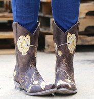 Old Gringo Marsha Chocolate Gold Boots L427-45 Picture