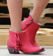 Miss Macie On The Fringe Red Boots U7001-01 Picture