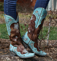 Old Gringo Bonnie Aqua Boots L649-4 Picture