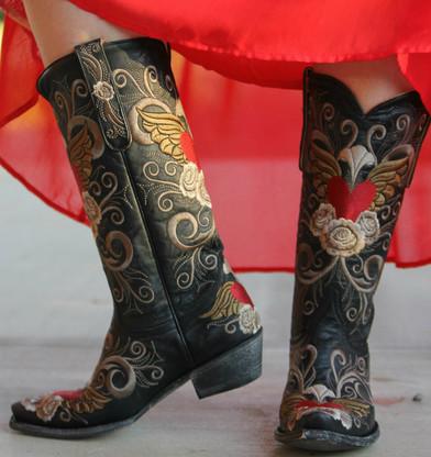Old Gringo Grace Black Boots L639-1 Picture